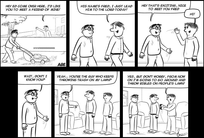 Abe - Bible Punching Comic