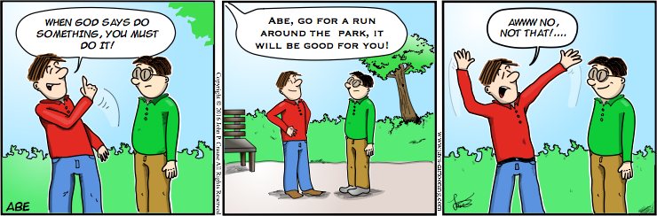 Abe - You Must Do It Comic
