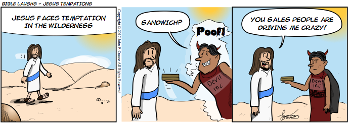 Bible Laughs - Jesus Temptations Comic