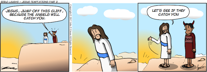 Bible Laughs - Jesus Temptations Part 2 Comic