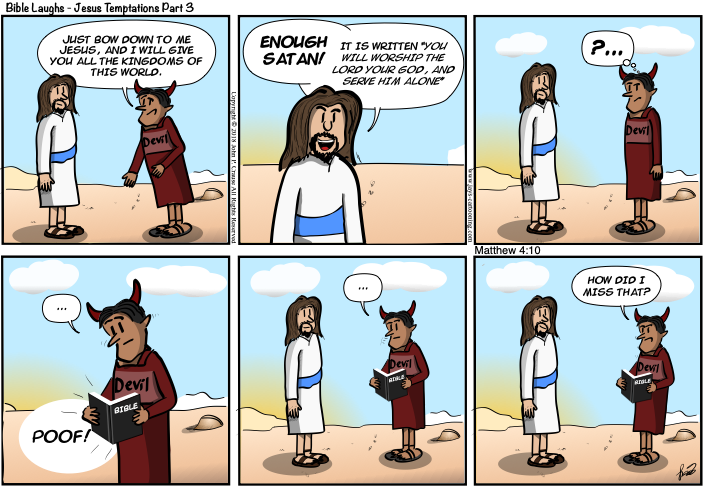 Bible Laughs - Serve Him Only Comic